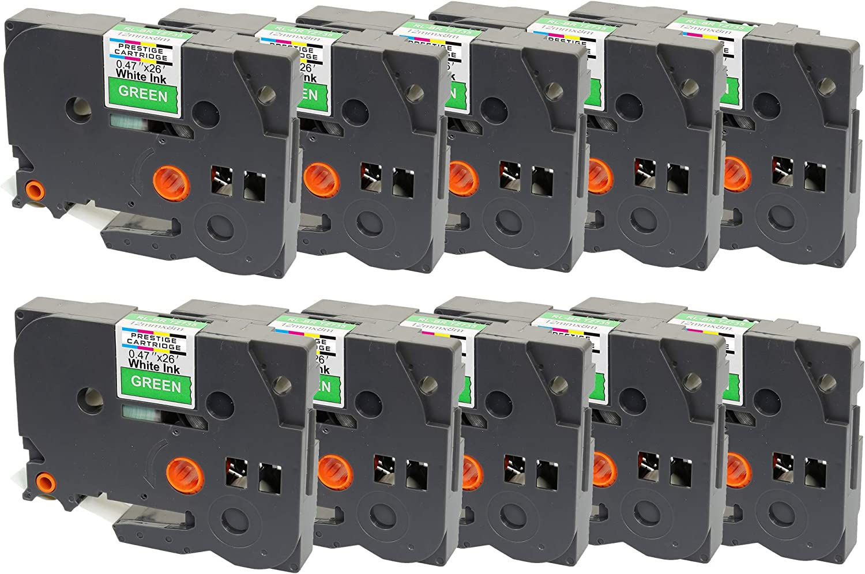 for Brother P-Touch Label Printers Cintas para impresoras de etiquetas Compatible TZ-535//TZe-535 White on Blue Label Tape 12mm x 8m