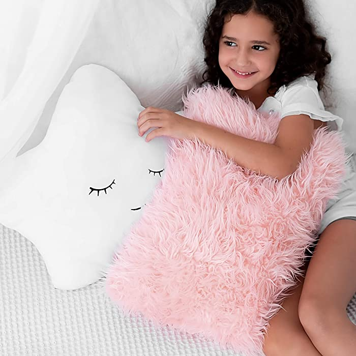 Top 10 Cylinder Fuzzzy White Decor Pillow