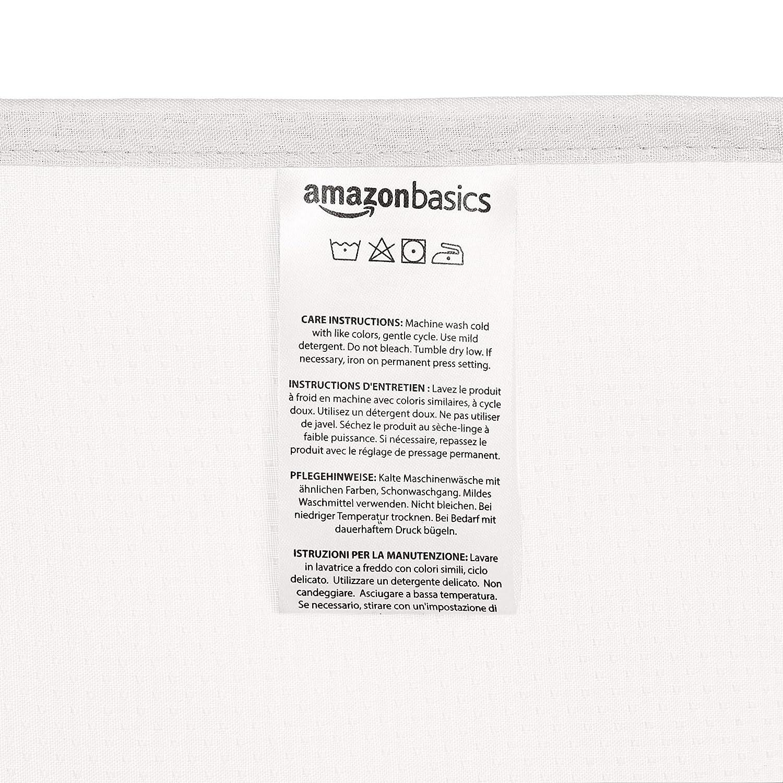 183 x 183 cm blanco Basics Cortina de ducha de poli/éster estilo Dobby