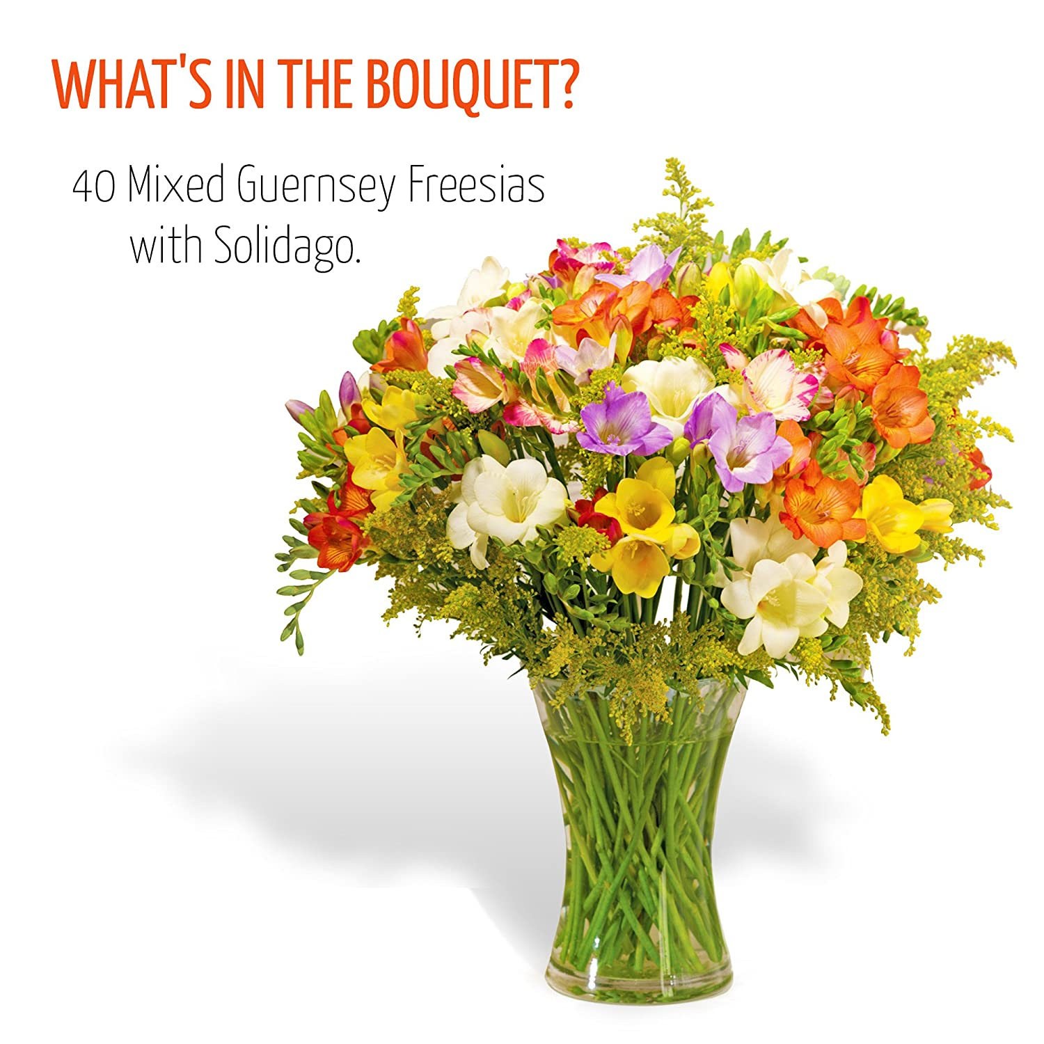 Fresh flowers delivered free uk delivery 40 mixed guernsey fresh flowers delivered free uk delivery 40 mixed guernsey freesias bouquet with free chocolates flower food and bonus ebook guide perfect for izmirmasajfo