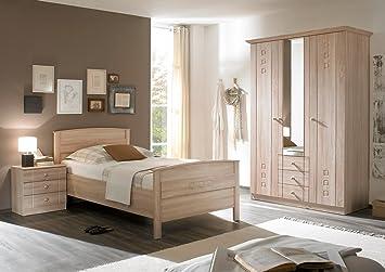 Schlafzimmer Seniorenzimmer Mit Komfortbett Schrank Kommode Eiche