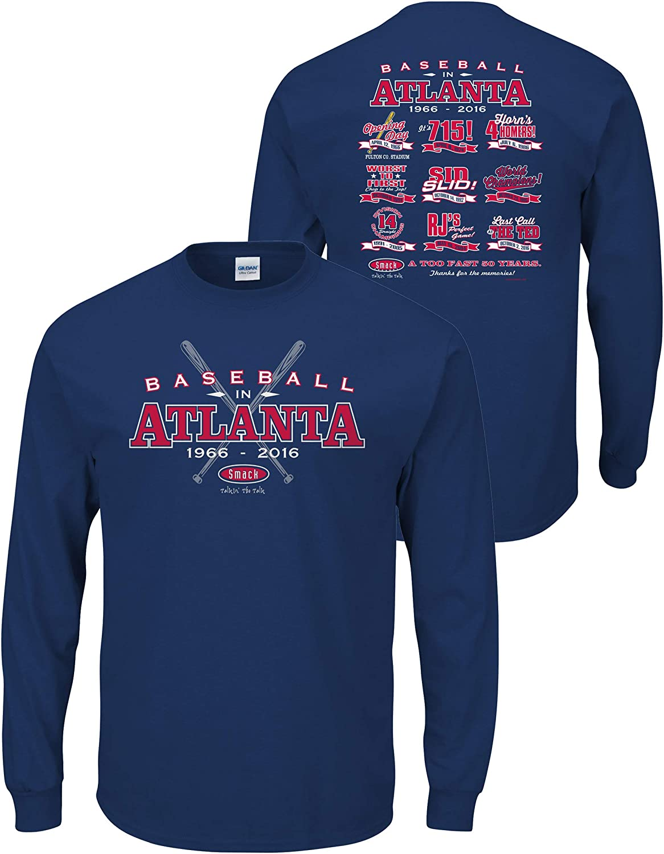 Baseball in Atlanta Navy T-Shirt Smack Apparel Atlanta Baseball Fans Sm-5X