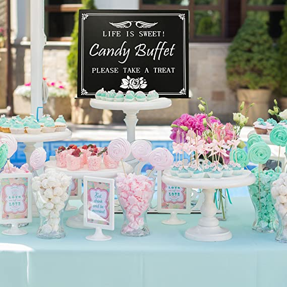 amazon com jennygems wood wedding party sign candy buffet life is