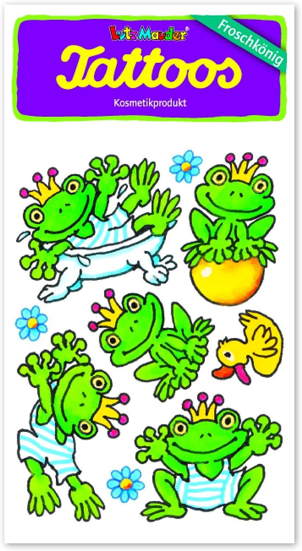 One Size Lutz Mauder Lutz mauder44618/der Frosch King Eisen Henry Tattoo