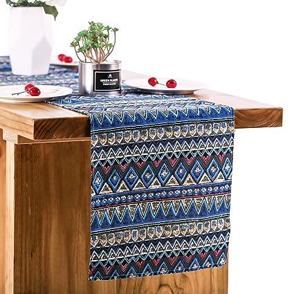 Amazon Letjolt Boho Pattern Blue Table Runner For Wedding