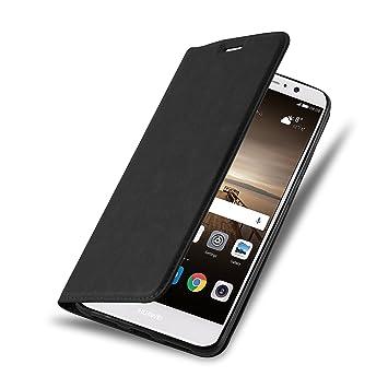 Cadorabo Funda Libro para Huawei Mate 9 en Negro Antracita – Cubierta Proteccíon con Cierre Magnético, Tarjetero y Función de Suporte – Etui Case ...