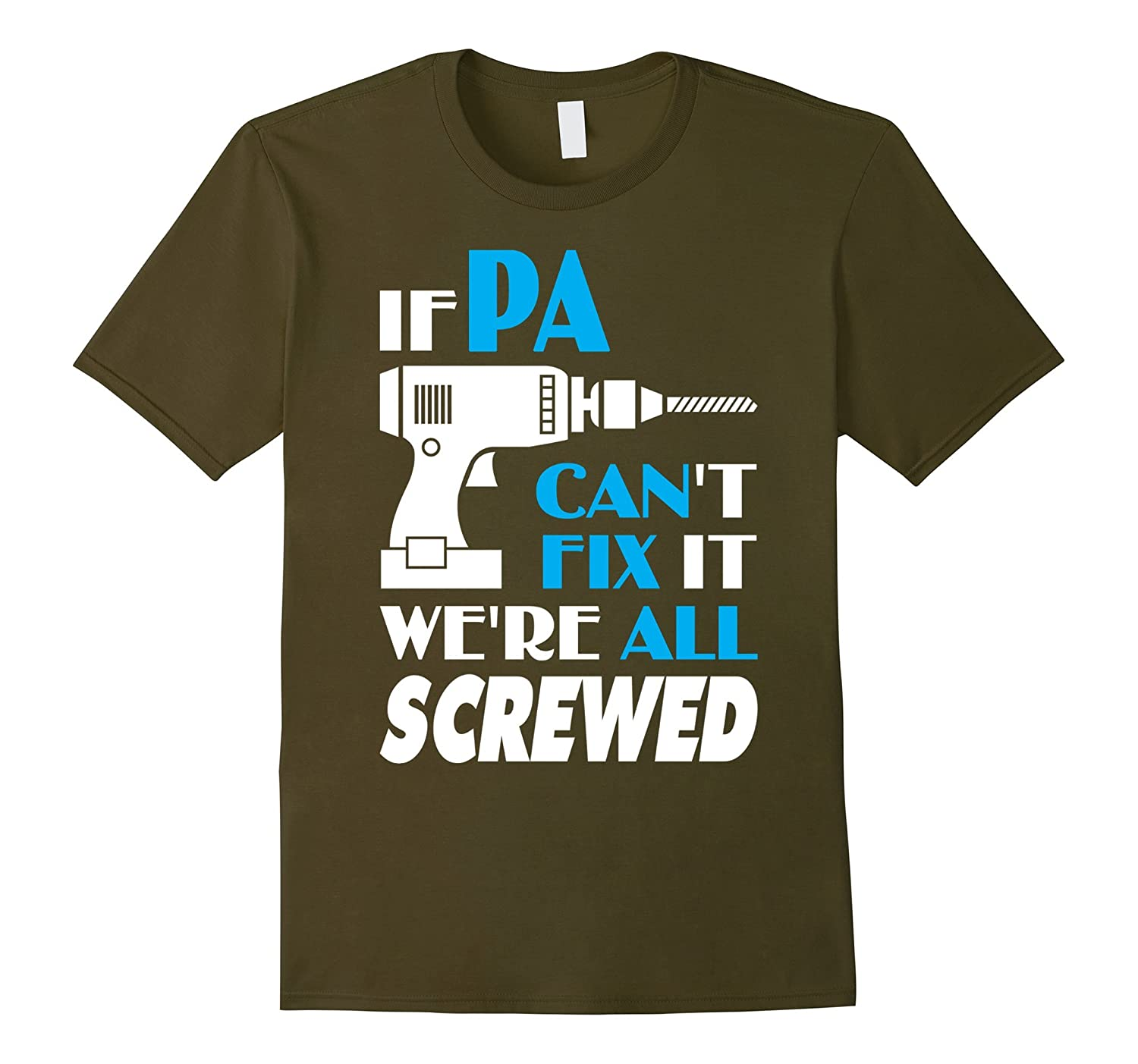Mens Pa Can Fix All -The Best Gifts For Pa Christmas Shirt-TH