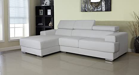 Awesome Us Pride Furniture Gabriel White Leather Contemporary Facing Left Chaise Sectional Sofa Set Beatyapartments Chair Design Images Beatyapartmentscom