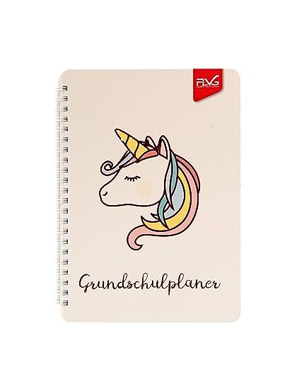 FLVG - Agenda escolar 2019/2020, diseño de unicornio: Amazon ...