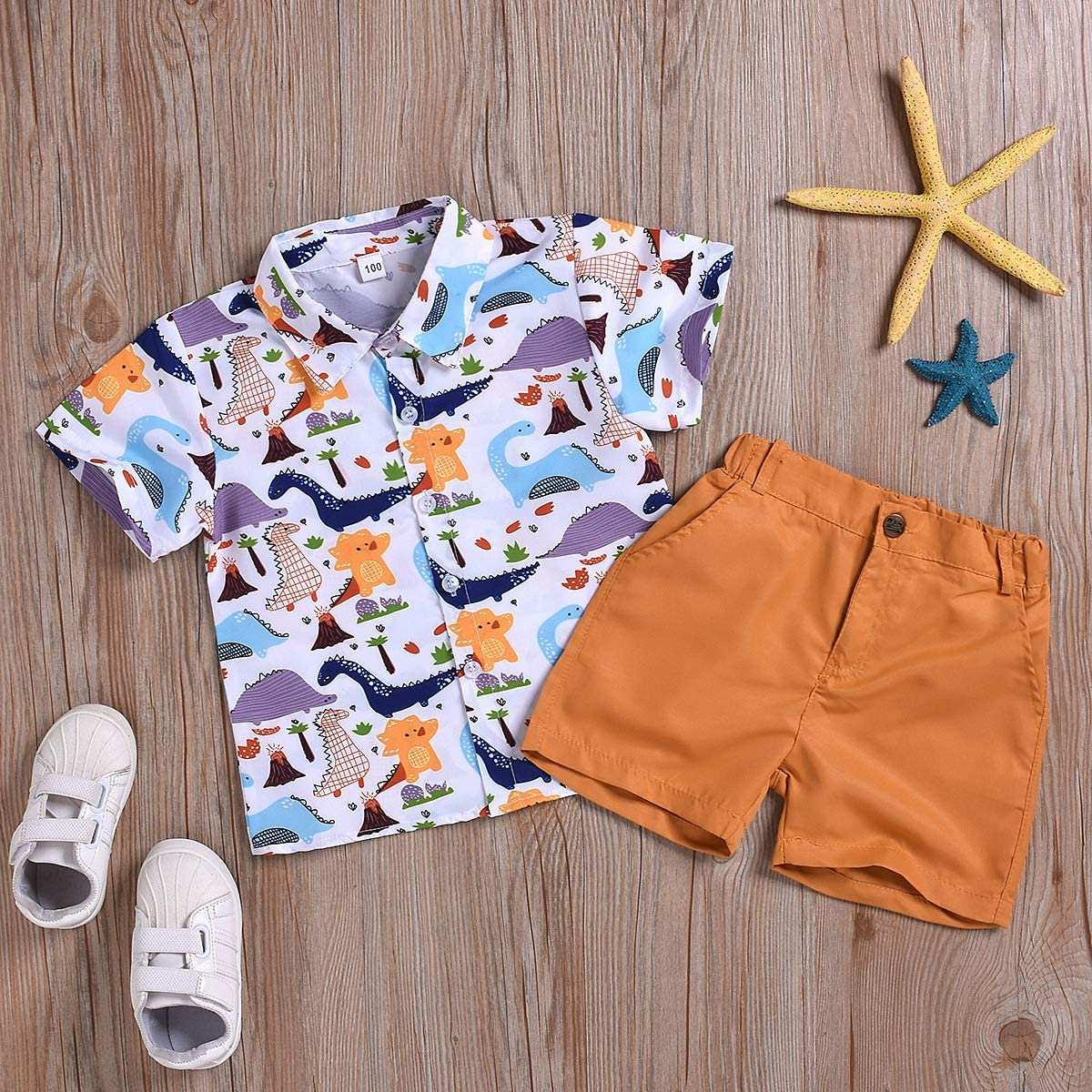 Dinosaurs Borlai Kid Boys Summer Clothes Suit Cute Cartoon Shirts 2pcs Animal Print Top Shirt Pants Shorts Boys Fashion Outfits Birthday Gift