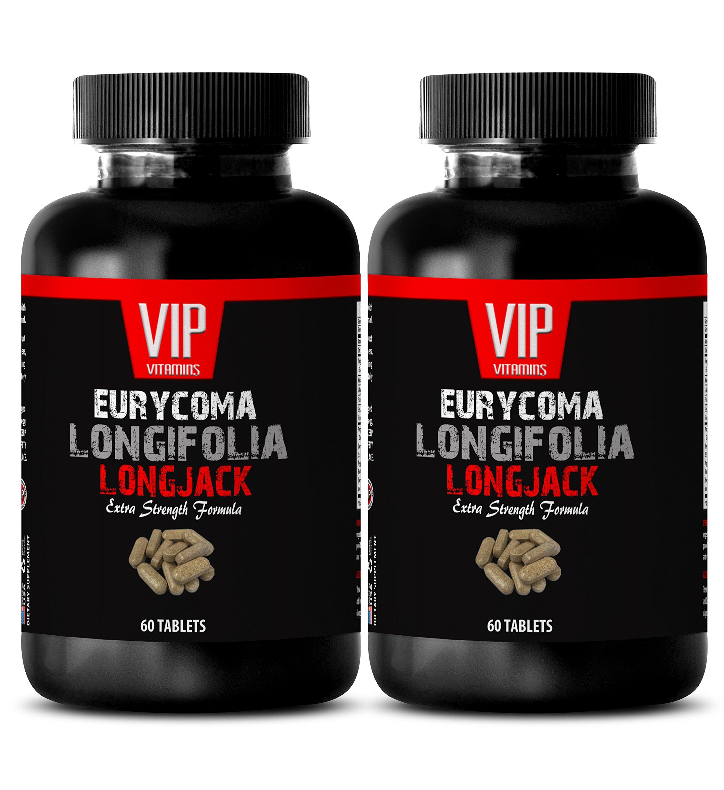 Tongkat ali extract 200 to 1 powder - EURYCOMA LONGIFOLIA - Sexual wellness for men (2 Bottles - 120 Capsules)