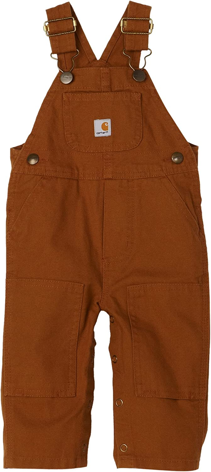 Carhartt Baby-boys Infant Washed Duck Bib Overall, Brown