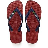 Havaianas Uomo Brasil Logo Flip Flops, Rosso
