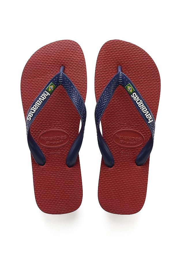88 opinioni per Havaianas Uomo Brasil Logo Flip Flops, Rosso