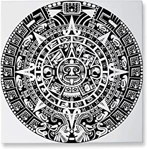 Pummelouty Mayan Calendar on White.Raster Version of,Abstract Wall Art Wall Art for Living Room 16x16