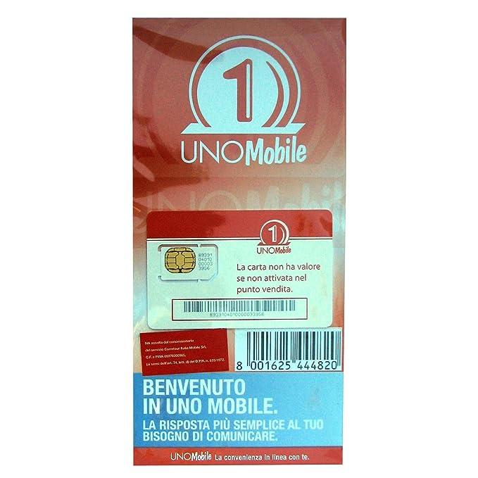 Amazon.com: Uno Funda para tarjeta SIM de prepago Italiano