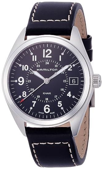 Hamilton Reloj Analogico para Hombre de Cuarzo con Correa en Cuero H68551733: Amazon.es: Relojes