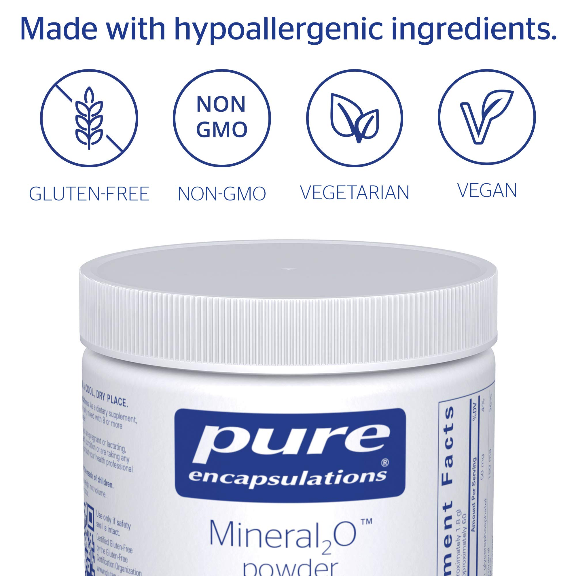 Pure Encapsulations - Mineral2O Powder - Mineral Water Enhancer - 108 Grams by Pure Encapsulations (Image #4)
