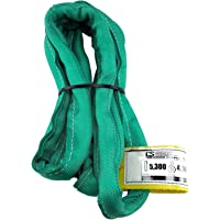 USA Made VR2 X 4' Green Slings 4'-30' Lengths in Listing, Double PLY Cover Endless Round Poly Lifting Slings, 5,300 lbs Vertical, 4,240 lbs Choker, 10,600 lbs Basket (USA Poly)(4 FT)