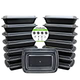 Amazon Price History for:Freshware 15-Pack 1 Compartment Bento Lunch Boxes with Lids - Stackable, Reusable, Microwave, Dishwasher & Freezer Safe - Meal Prep, Portion Control, 21 Day Fix & Food Storage Containers (28oz)