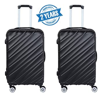 df238e252 3G Combat 8023 Series 4 Wheel Hard Sided Luggage Set of 20