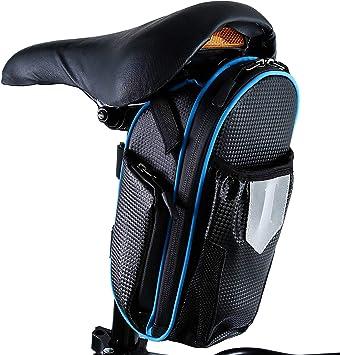 CamGo Bolsas para Sillines de Bicicletas de 1.8L, Paquete de Cuña ...