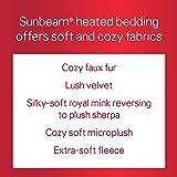 Sunbeam Heated Throw Blanket | Microplush, 3 Heat