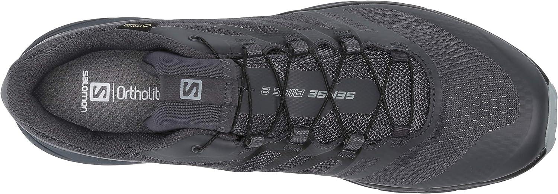 Salomon Outbound GTX - Men's Men's Trekking & Hiking Shoes, Black/Black/Gum1A Ebony/Black/Quarry