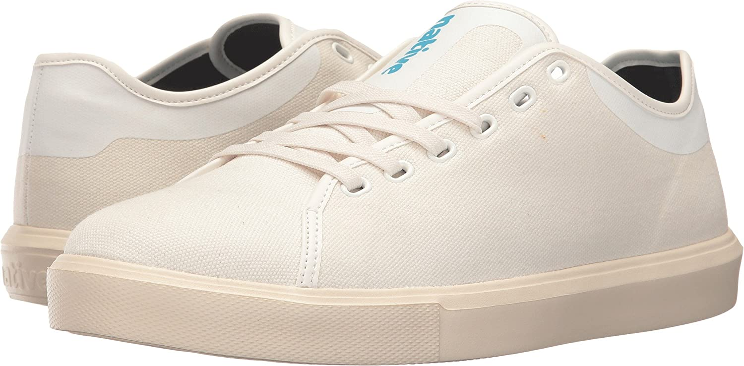 native Women's Monaco Low Non Perf Fashion Sneaker B01N37R115 10.5 B(M) US Women / 8.5 D(M) US Men|Shell White Wax/Bone White