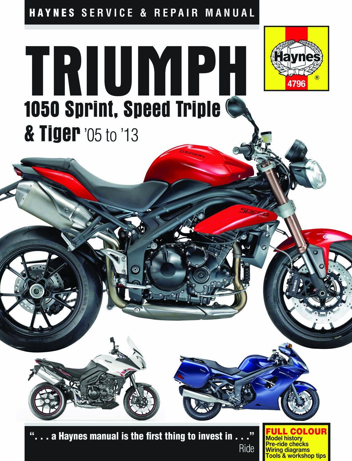 Triumph 1050 Sprint St Speed Triple Tiger Service And Repair Honda Vtr 1000 Wiring Diagram Manual 2005 To 2013 Haynes Manuals Matthew Coombs