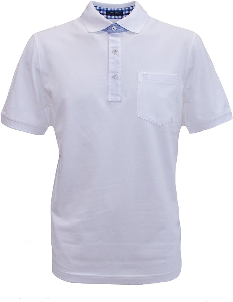 Pierre Cardin - Polo - Camisa Polo - Polo - Manga 3/4 - para Hombre Blanco Large: Amazon.es: Ropa y accesorios