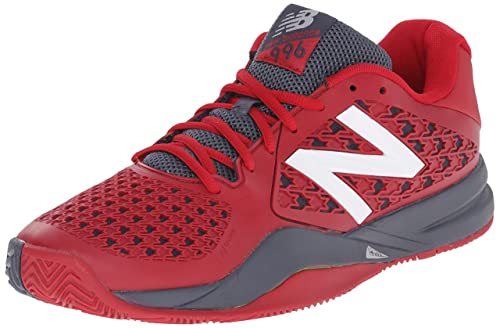 New Balance Men's 996v2 Tennis Shoe, RedGrey, 8 2E US