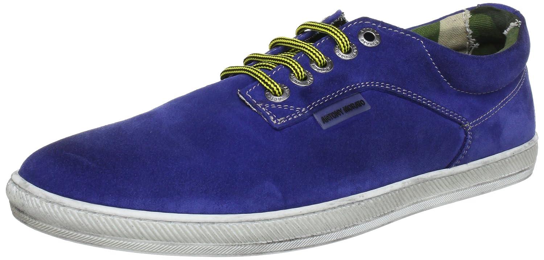 Antony Morato MMFW00055 - Zapatos de cordones de cuero para hombre, color azul, talla 42