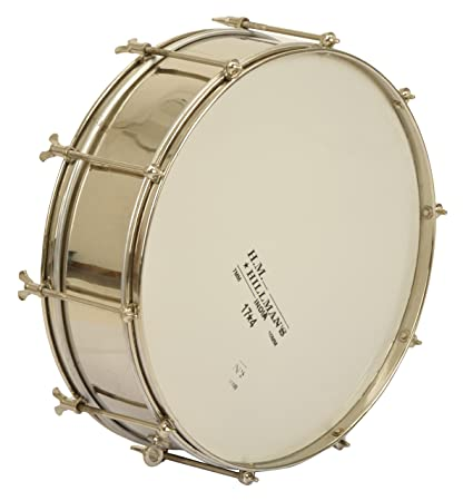 Saraswathi Snare Drum/ School Band Marching Side Drum with Sticks/ Hand  Percussion Musical Instrument, Brass
