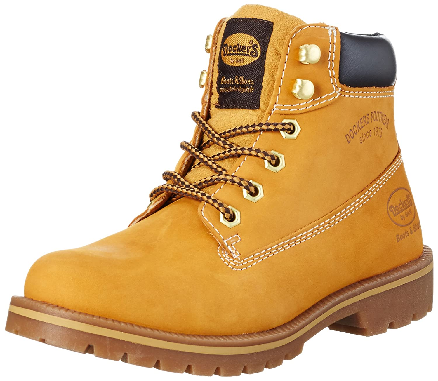 Dockers by Gerli 35aa203-300910, Botines para Mujer38 EU|Amarillo (Golden Tan 910)