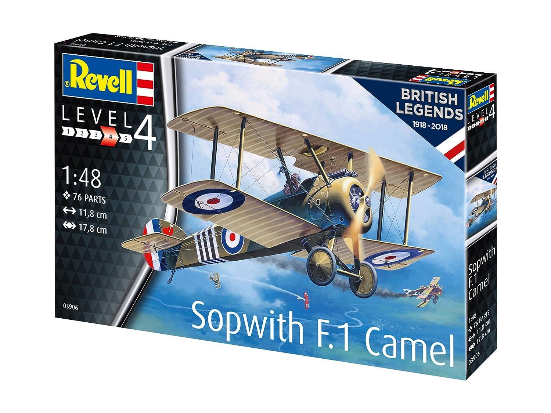 1:48 Scale Multi Colour Revell 03906 Legends British Legends:Sopwith F.1Camel