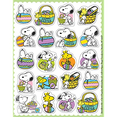Eureka Peanuts Easter Stickers, Theme (655061): Office Products