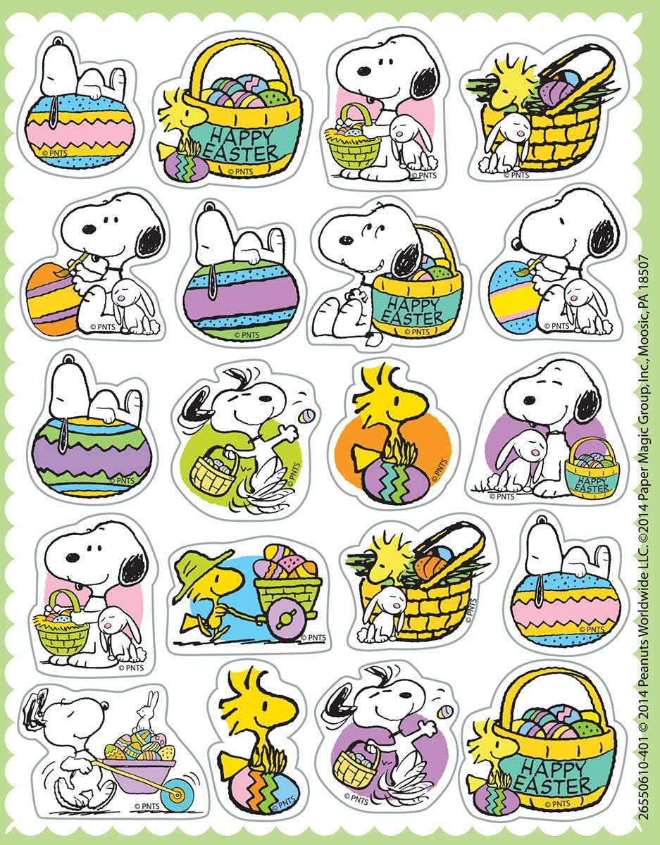Eureka Peanuts St 655059 Theme Patricks Stickers