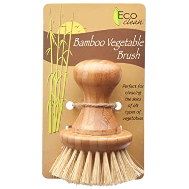 HIC Harold Import Co. Lola Eco Clean Bamboo and Tampico Vegetable Brush