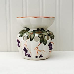 Tuscany Sorano Grape Vine White Garden Collection, Tart Burner 4