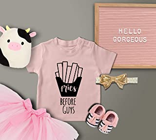 Fries Before Guys/Baby Shirt/Funny Baby Bodysuit/Baby Gift/Funny Baby Shirt/Kids Clothes/Baby Shower Gift/Trendy Toddler/Graphic T-shirt/Baby Clothes
