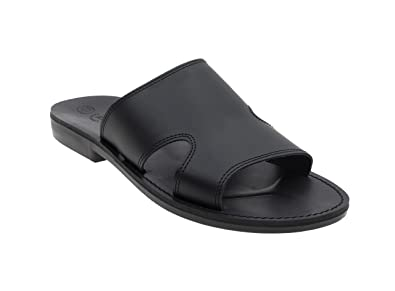 65f092bac06 Amazon.com | NIMI Men's Leather Flat, Slider, T-Strap Retro Sandals ...
