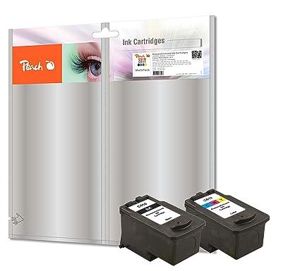 Peach PI100-220 cartucho de tinta Negro, Cian, Magenta, Amarillo 14 ml 13 ml - Cartucho de tinta para impresoras (Tinta a base de pigmentos, Negro, ...