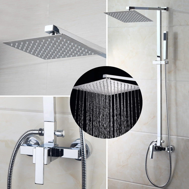 OUBONI European Style Shower Faucet System Rainfall Shower Head ...