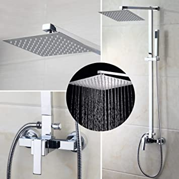 OUBONI European Style Shower Faucet System Rainfall Shower Head ...