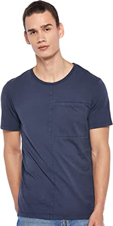 Jack & Jones Men's Jcojaw Tee SS Crew Neck, in Maritime Blue, Size: Medium