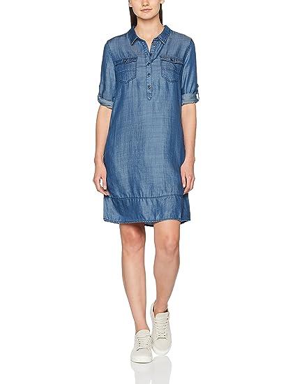 s.Oliver 14707827091, Robe Femme, Blau (Blue Denim Non Stretch 54Y3) 56b1a258d408