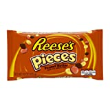 REESE'S PIECES Candy, Peanut Butter Candy in a Crunchy Shell, 15 Ounce Bag (Halloween Candy)