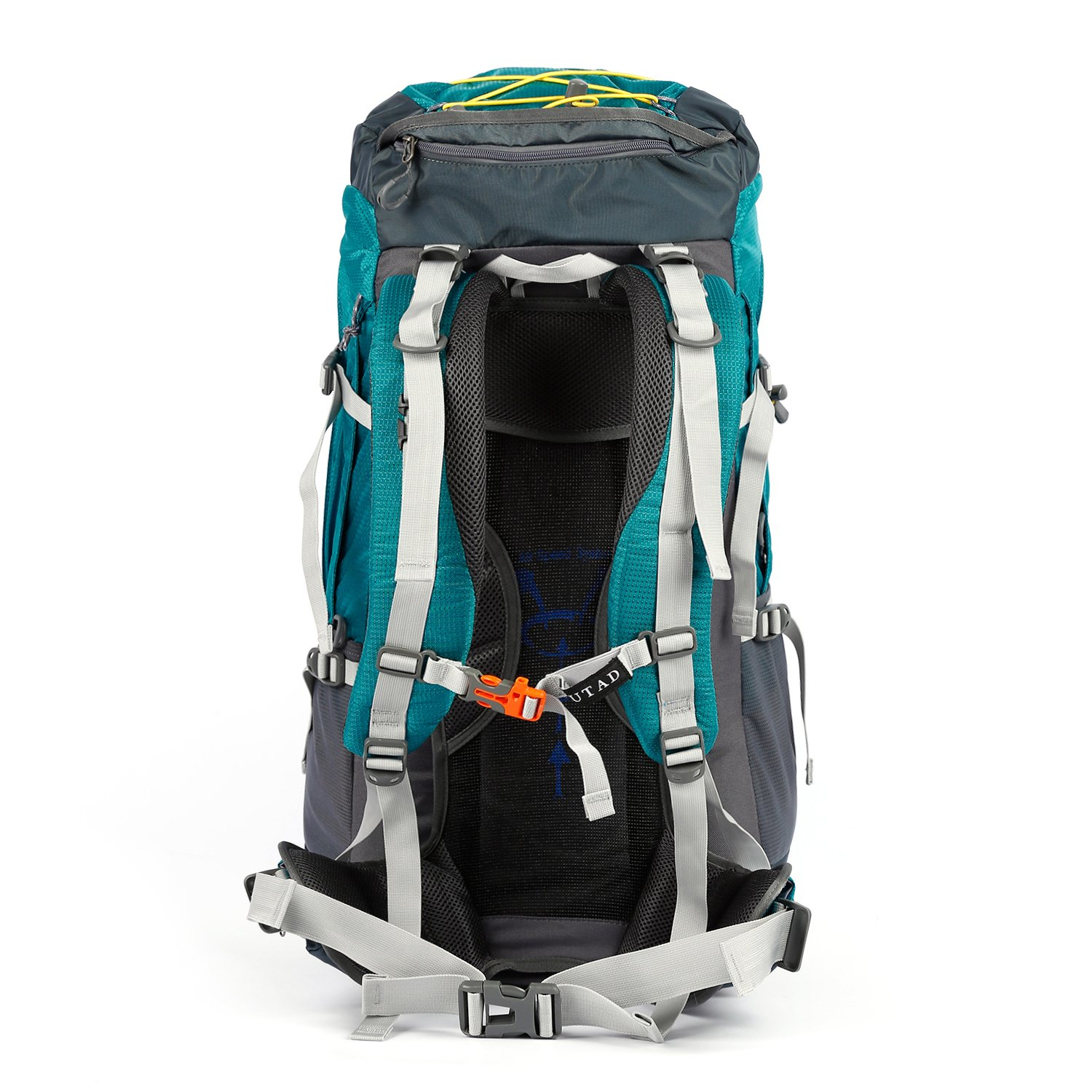 OUTAD 65L60L 5L Hiking Backpack Camping Backpacking Mountaineering Multi Day Pack Lake Blue Internal Frame Backpacks