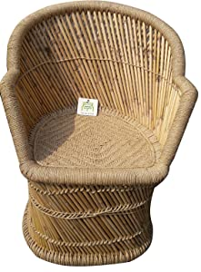 Ecowoodies Arbutus Garden / Lawn / Indoor Outdoor Terrace Balcony Restaurant Pubs Cafe Cane Chair (2 Beige Cane Chair)